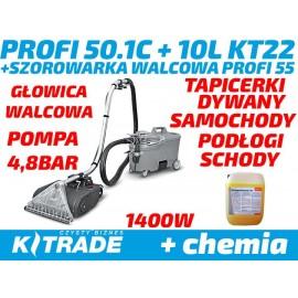 Profi zestaw 50.1C EW 4,8bar + szorowarka  Profi 55 + 10L koncentrtu Stockmeier KT22